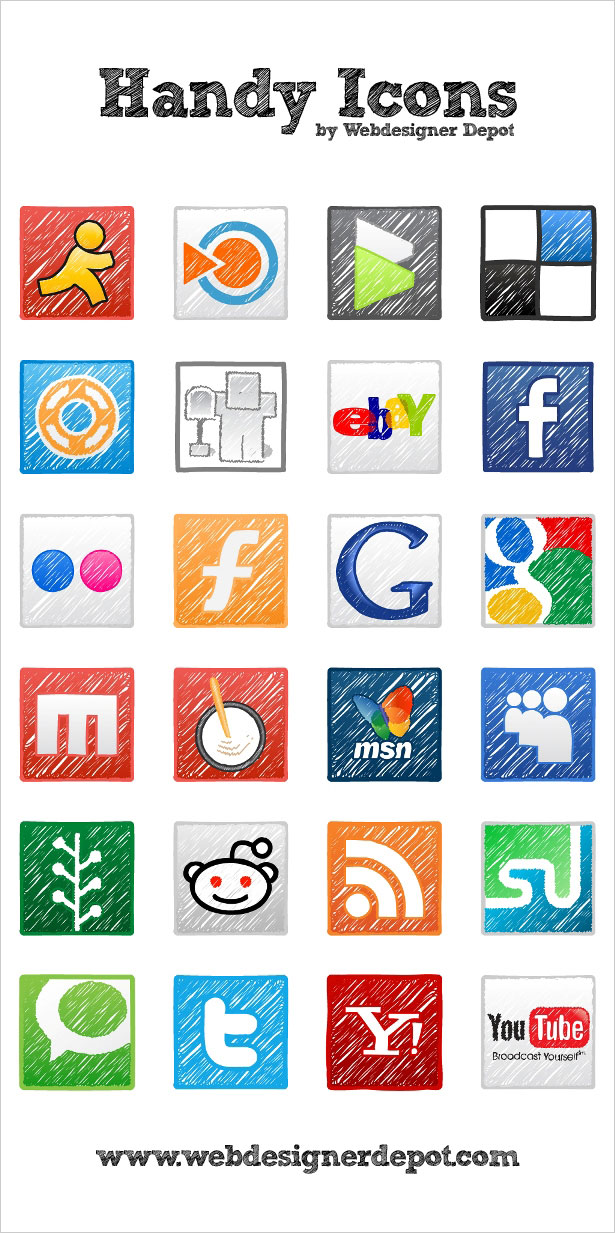 handy icons1 Most beautiful social icons sets