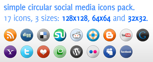 preview Most beautiful social icons sets