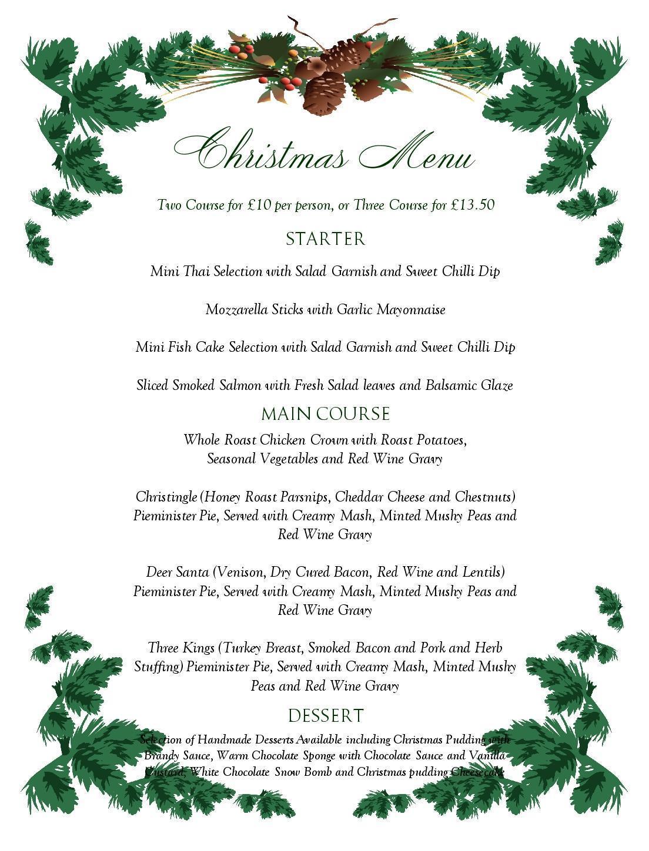 free editable christmas menu templates