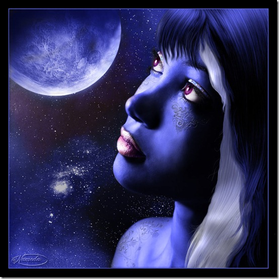Blue Moon by Nameda by Lilyas thumb 30 Beautiful Moon Inspirations
