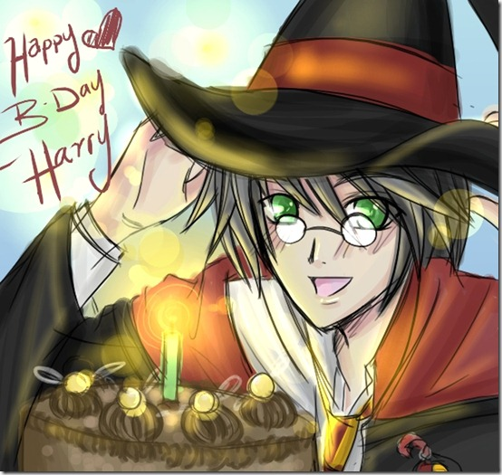 Happy BDay Harry Potter by SiliceB thumb 60 Amazing Pictures Inspired By Harry Potter Movie