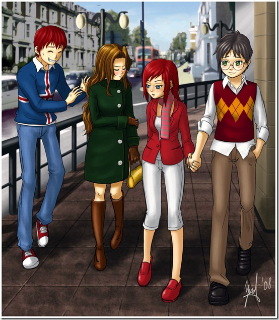 Harry Potter   Double Date by jehanaruto thumb 60 Amazing Pictures Inspired By Harry Potter Movie