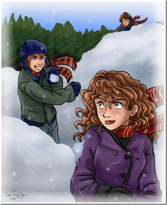 Harry_Potter___Snowball_Fight_by_irishgirl982